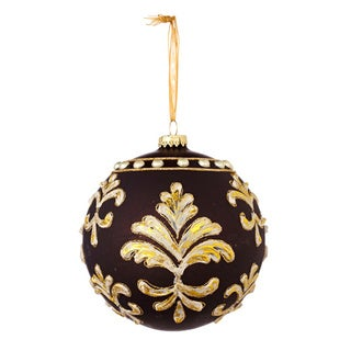 Sage & Co Sage & Co. Glass Jeweled Ball 4.5-inch Christmas Ornaments (Assortment of 2, Pack of 6)