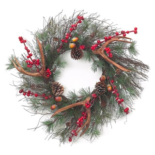 Sage & Co Sage & Co. Antler Christmas Wreaths (Set of 2)