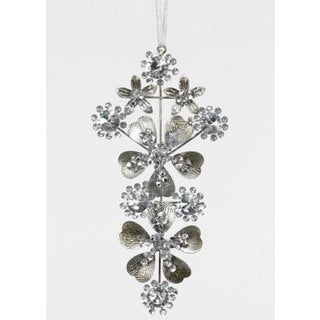 Sage & Co Sage & Co. Jeweled Tin Arabesque Christmas Ornament (Pack of 6)