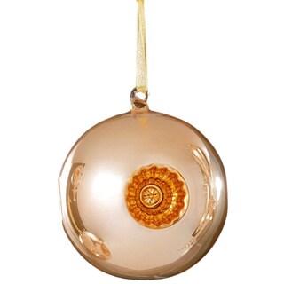 Sage & Co Sage & Co. 4.75-inch Yellow Glass Reflector Ball Christmas Ornament
