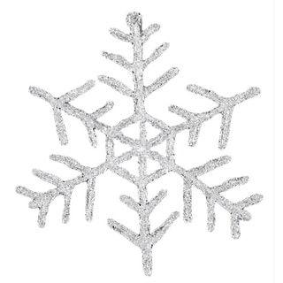 Sage & Co Sage & Co. 10-inch Acrylic Snowflake Christmas Ornament (Pack of 6)