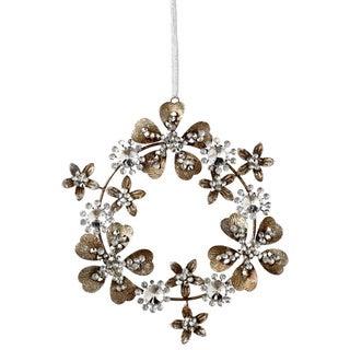Sage & Co Sage & Co. Jeweled Tin Wreath Christmas Ornaments (Set of 12)