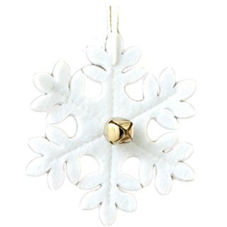 Sage & Co Sage & Co. White Felt Snowflake Christmas Ornament (Pack of 12)