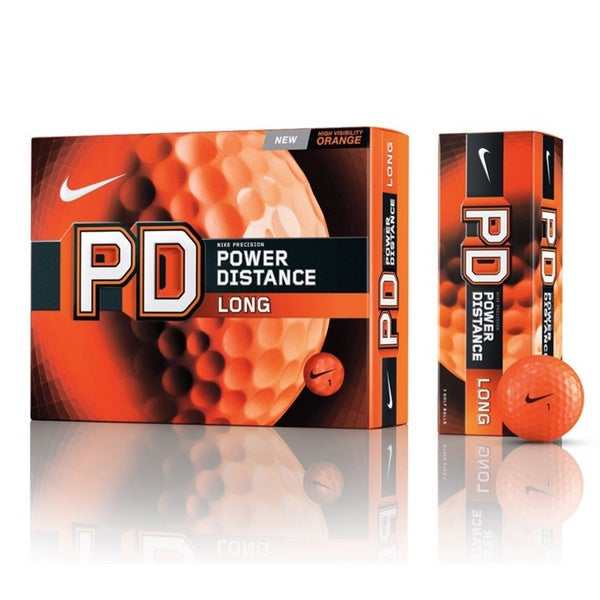 Nike Power Distance Orange PD8 Long Golf Balls (1-dozen)