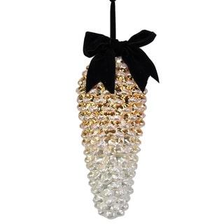 Sage & Co Sage & Co. 9.5-inch Glass Pine Cone Christmas Ornament
