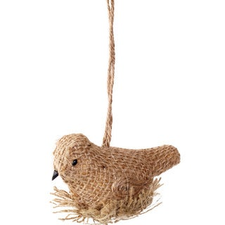 Sage & Co Sage & Co. 4-inch Burlap Bird on Nest Ornaments (Set of 12)