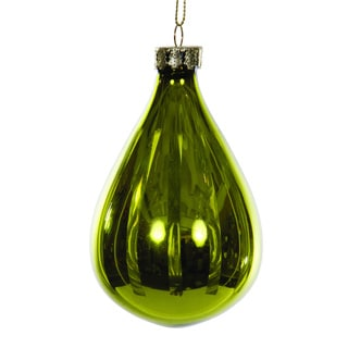 Sage & Co. Green Glass Hanging 4-inch Christmas Ornament