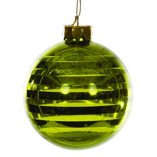 Sage & Co Sage & Co. Green Glass Hanging Christmas Ornament (Pack of 6)