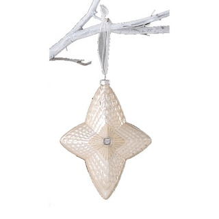 Sage & Co Sage & Co. Cream Glass North Star Christmas Ornament (Pack of 6)