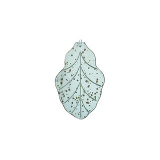 Sage & Co Sage & Co. Large Etched Silvertone Mirror Leaf Ornament (Pack of 5)
