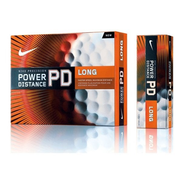 Nike PD7 Power Distance Long Orange Golf Balls (1-dozen)