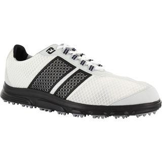 FootJoy Mens FJ Superlites CT White/Black Spikeless Golf Shoes