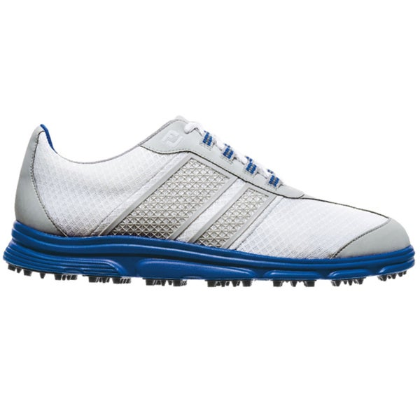 FootJoy Men's FJ Superlites CT Spikeless White/Grey/Blue Golf Shoes