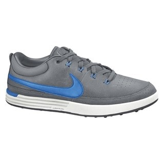 Nike Men's Spikeless Lunar Waverly White/ Clearwater/ Blue Lagoon Golf Shoes