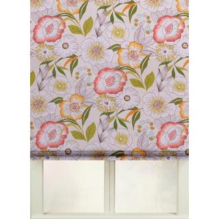 Cotton Print Roman Shades