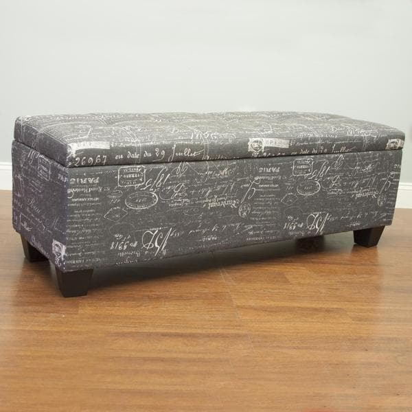 Storage Ottoman in White (As Is Item) 26424950