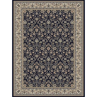 Somette Royal Emperor Navy Area Rug (5'3x7'7)