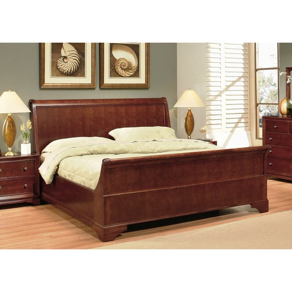 ABBYSON LIVING Kingston Walnut Sleigh Bed
