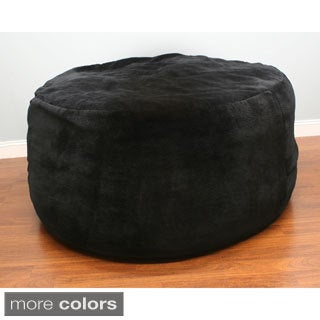 Poof Bean Bag in Charcoal