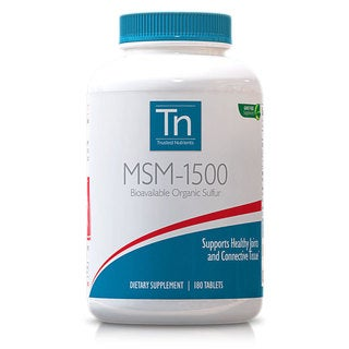 Trusted Nutrients GMO-free 1500mg MSM (180 Tablets)