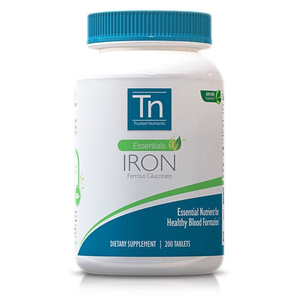Trusted Nutrients GMO-free 28mg Iron (200 Tablets)