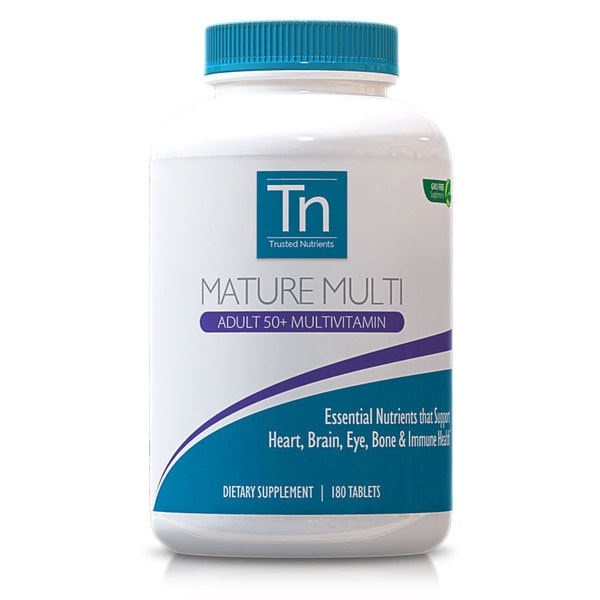 Trusted Nutrients GMO-free Mature 50+ Multivitamins (180 Count)