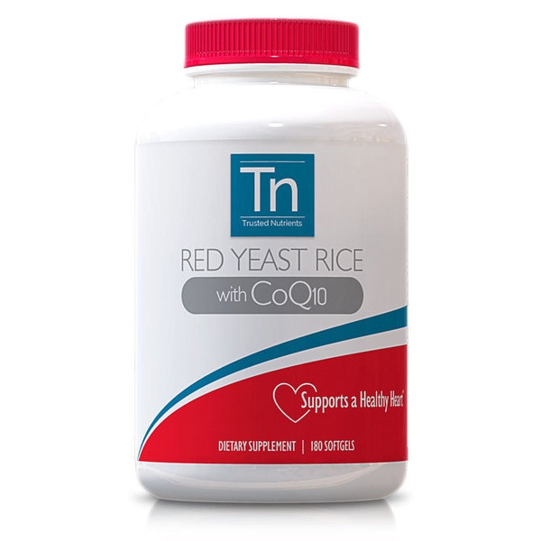 Trusted Nutrients Red Yeast Rice CoQ10 Softgels 180 Count