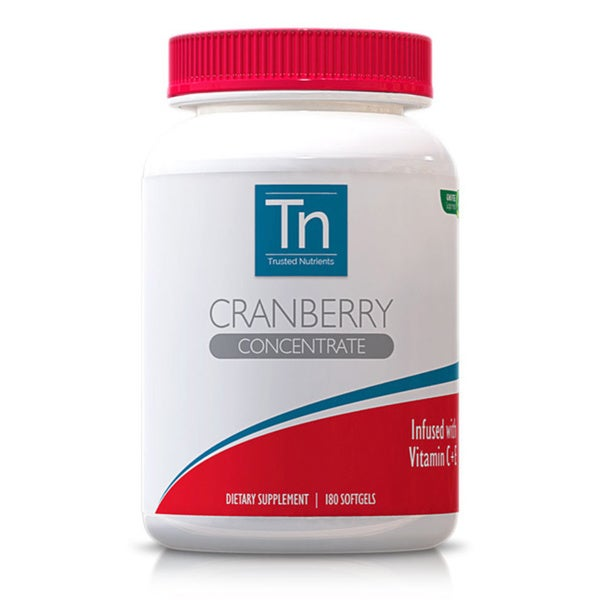 Trusted Nutrients GMO-free 8400mg Cranberry Concentrate (180 Softgels)
