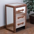Christopher Knight Home Evelyn Mirrored Three-Drawer Cabinet