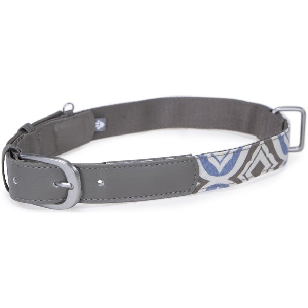 Kathy Ireland Loved Ones Fashion Dog Collar- Medium-Blue