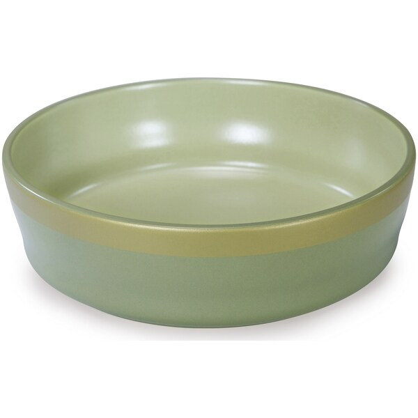 Kathy Ireland Loved Ones Ceramic Dog Bowl - Large-Green