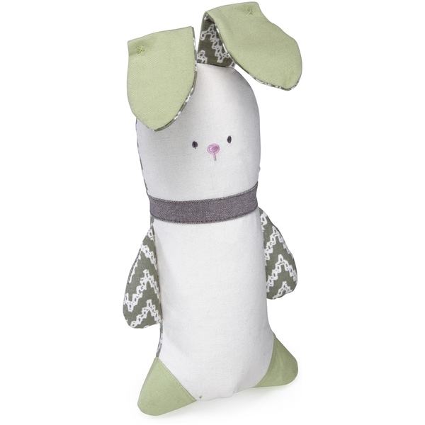 Kathy Ireland Loved Ones Crinkle Bunny Dog Toy-Green