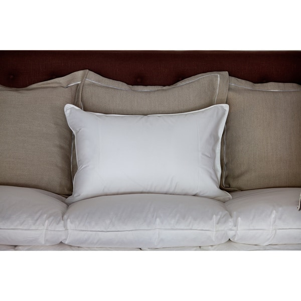Pillow Bar Standard White Down Pillow with Beautiful Dreamer Embroidered Protector