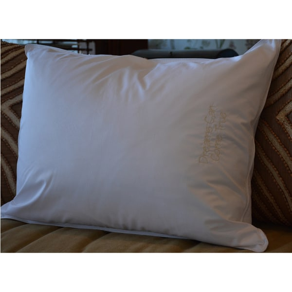 Pillow Bar Dreams Can Come True Embroidered White Down Pillow
