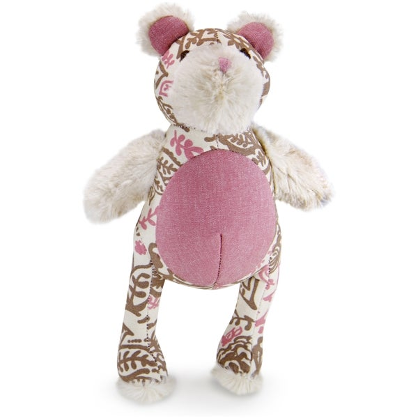 Kathy Ireland Loved Ones Durable Bear Dog Toy-Pink