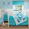 BananaFish Peacock Blues Baby 3-piece Crib Bedding Set