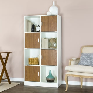 Baxton Studio White/ Walnut Chateau Bookcase