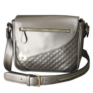 Hang Accessories Metallic Silver iPad Crossbody Bag