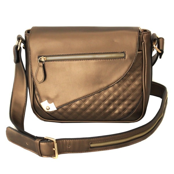 Hang Accessories Metallic Copper iPad Crossbody Bag