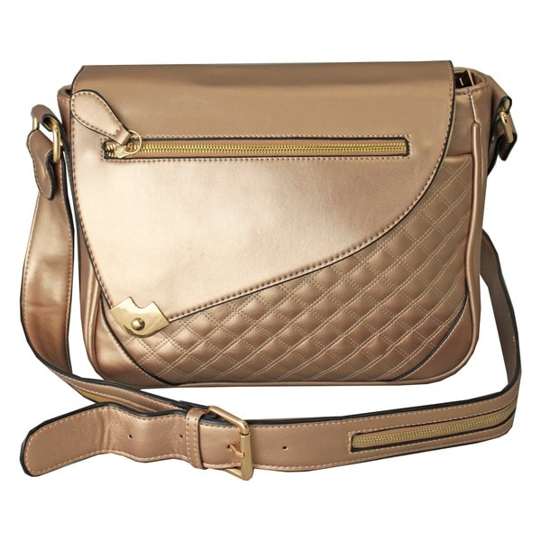 Hang Accessories Metallic Champagne iPad Tablet Crossbody Bag