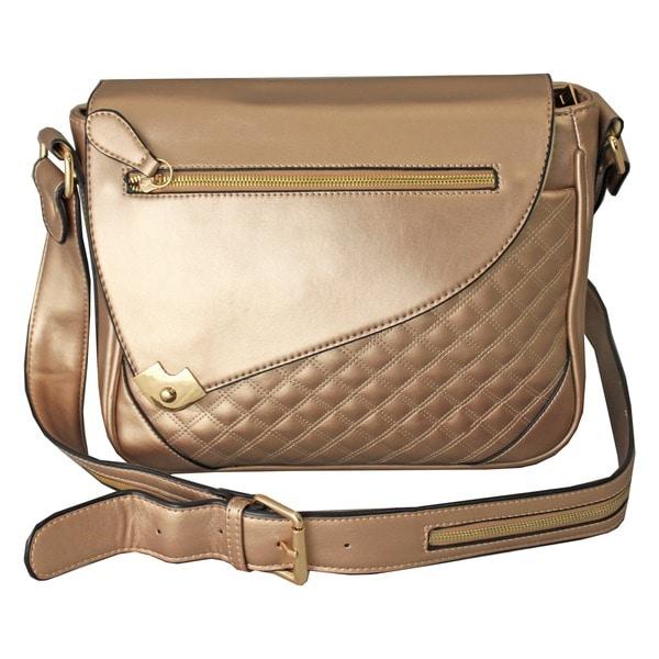 Hang Accessories Metallic Champagne iPad Tablet Crossbody Bag