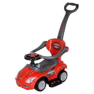 Best Ride On Cars Kids 3-in-1 Red Pushcar