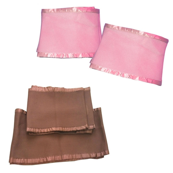 Breathable Mesh Pink/ Brown Crib Liner