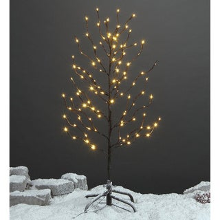 Lightshare 3-foot 112-light Warm White LED Star Light Tree with Free Gift:10-light LED Star Twinkling (RGB) Decoration Light