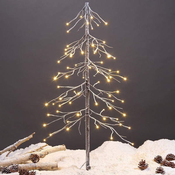 Lightshare 3-foot 72-light Warm White LED Fir Snow Tree with Free 10-light LED Star Treetop Decoration Light