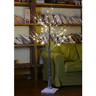 LightShare 5 Foot Skinny Holiday Tree with LED Lights