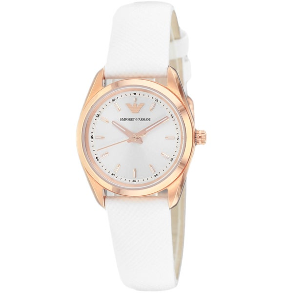 Armani Women's AR6033 Sportivo White Leather Watch