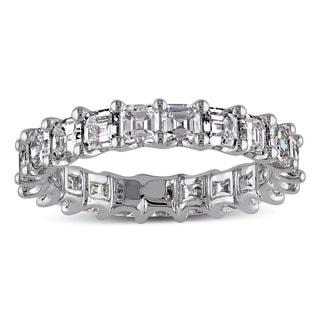 Miadora Signature Collection 14k White Gold 2 1/2ct TDW Asscher Cut Diamond Ring (G-H, VS1-VS2)