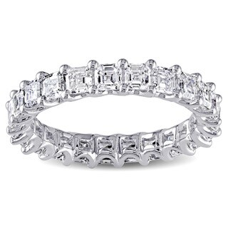 Miadora Signature Collection 14k White Gold 3 1/4ct TDW Asscher Cut Diamond Ring (G-H, VS1-VS2)