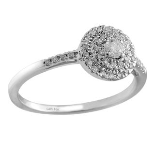 10k White Gold 1/5ct TDW Diamond Cluster Ring (H-I, SI1-SI2)